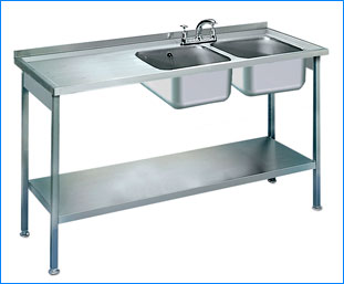 Commercial stainless steel Kitchen Water Sink / chimney ludhiana punjab india