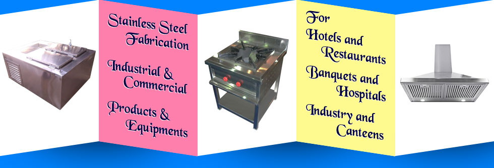 stainless steel kitchen chimney - steel water sink - commercial kitchen equipments in ludhiana punjab india